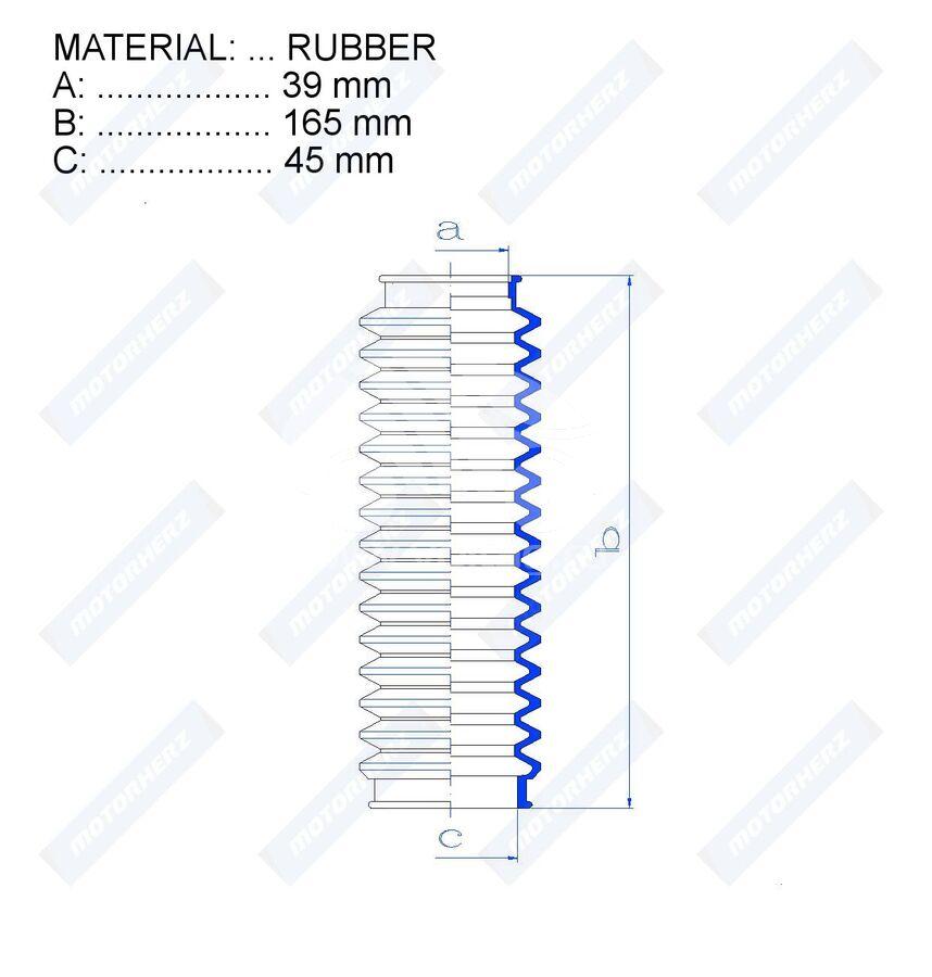Пыльник рулевой рейки RDZ0153MG