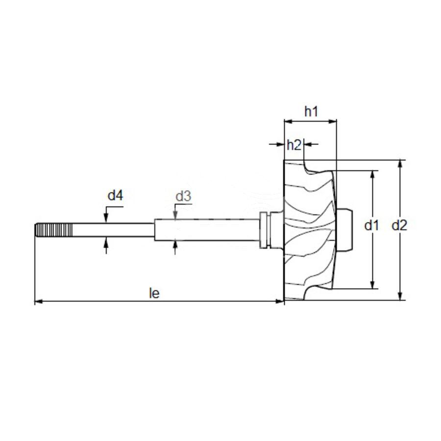 Вал турбокомпрессора MST0534