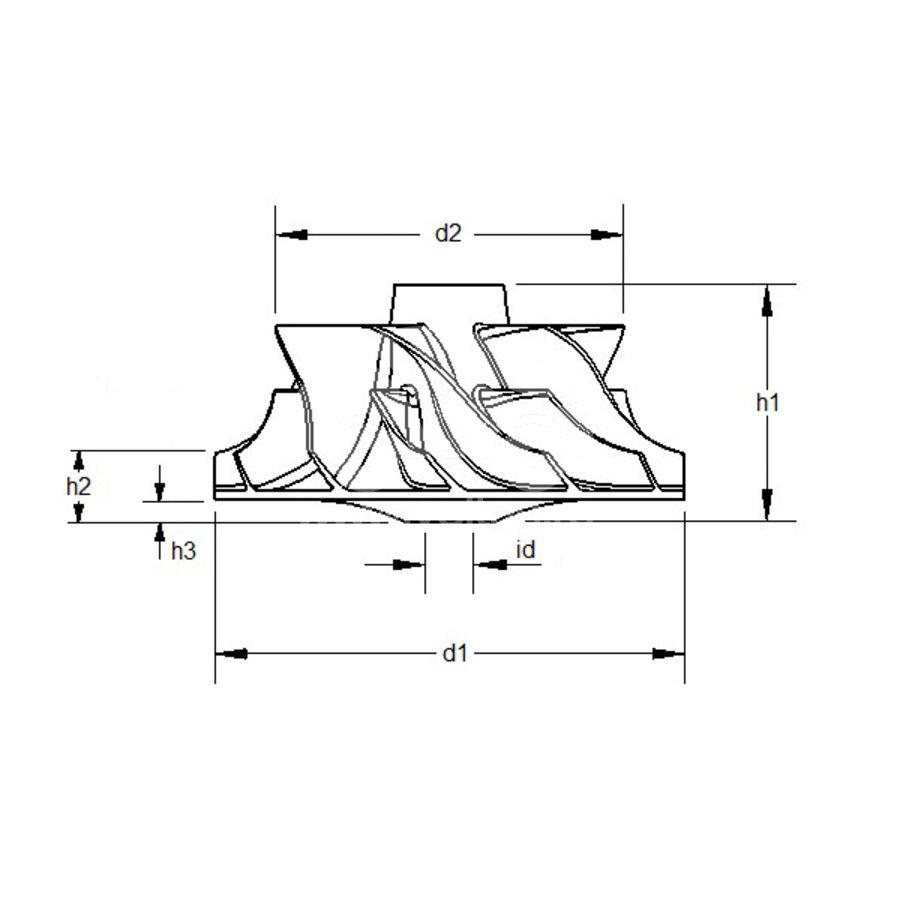 Крыльчатка турбокомпрессора MIT0001