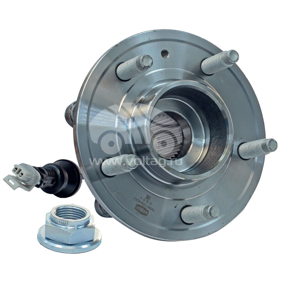 Ступица колеса с подшипником в сборе и монтажный комплектKRAUF WBK1064DU (25903295)