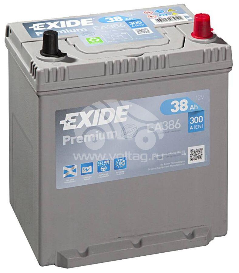АккумуляторExide EA386 (185x136x220)