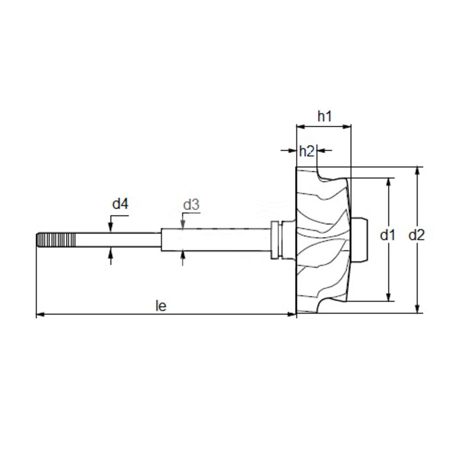 Вал турбокомпрессора MST0006