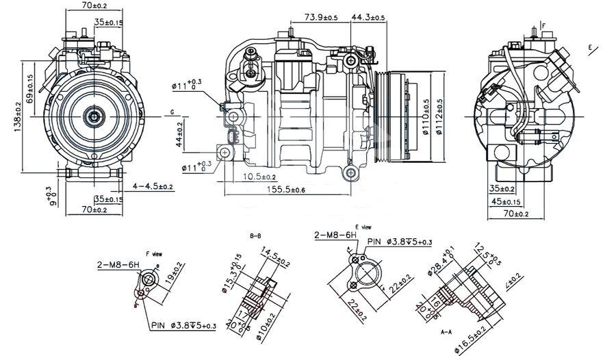 Компрессор кондиционера автомобиля KCN1110