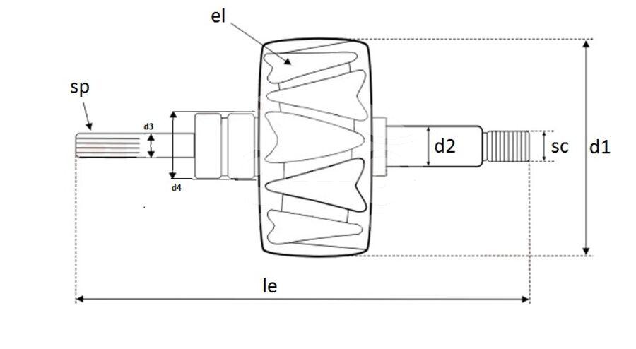 Ротор генератора AVB1633
