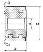 Коллектор моторчика печки KSS0004