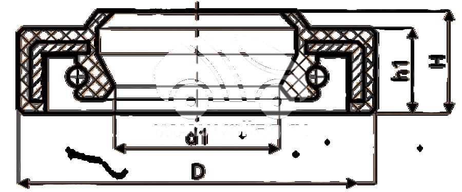 Сальник рулевой рейки HAZ1758