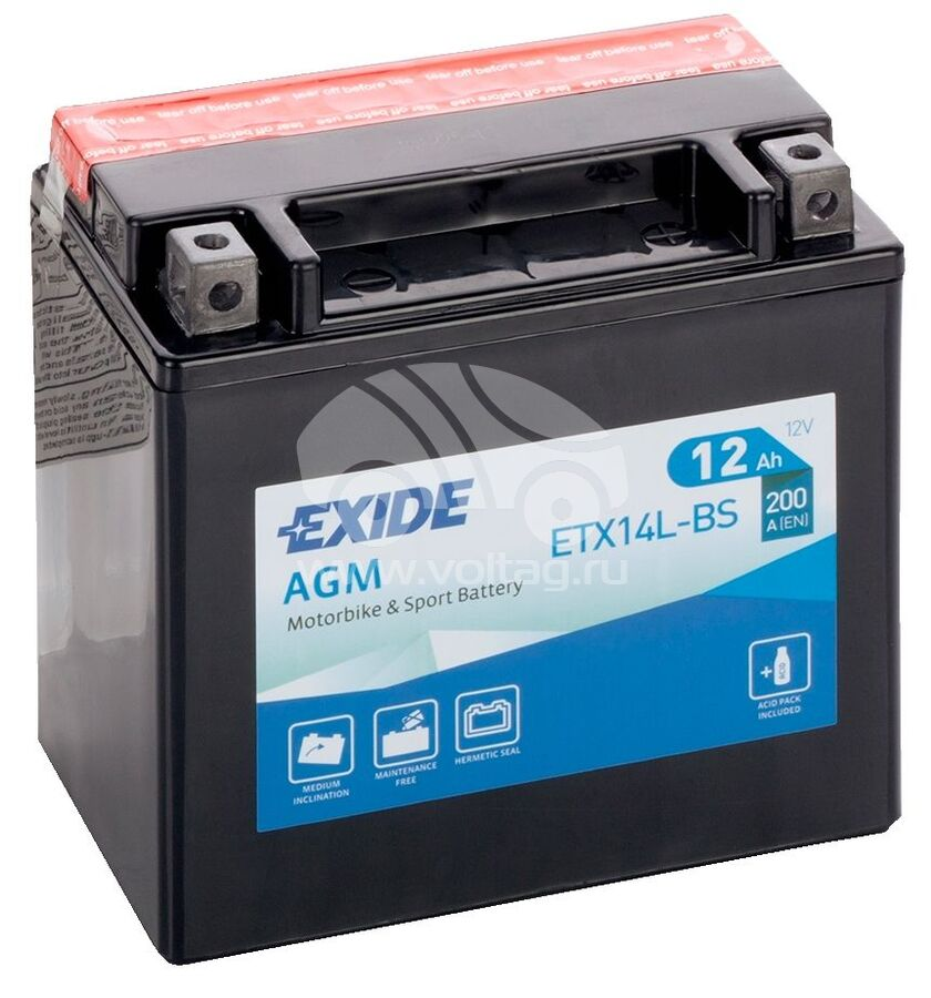 АккумуляторExide ETX14LBS (ATM1215XE)