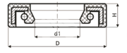 Сальник рулевой рейки HAZ0005