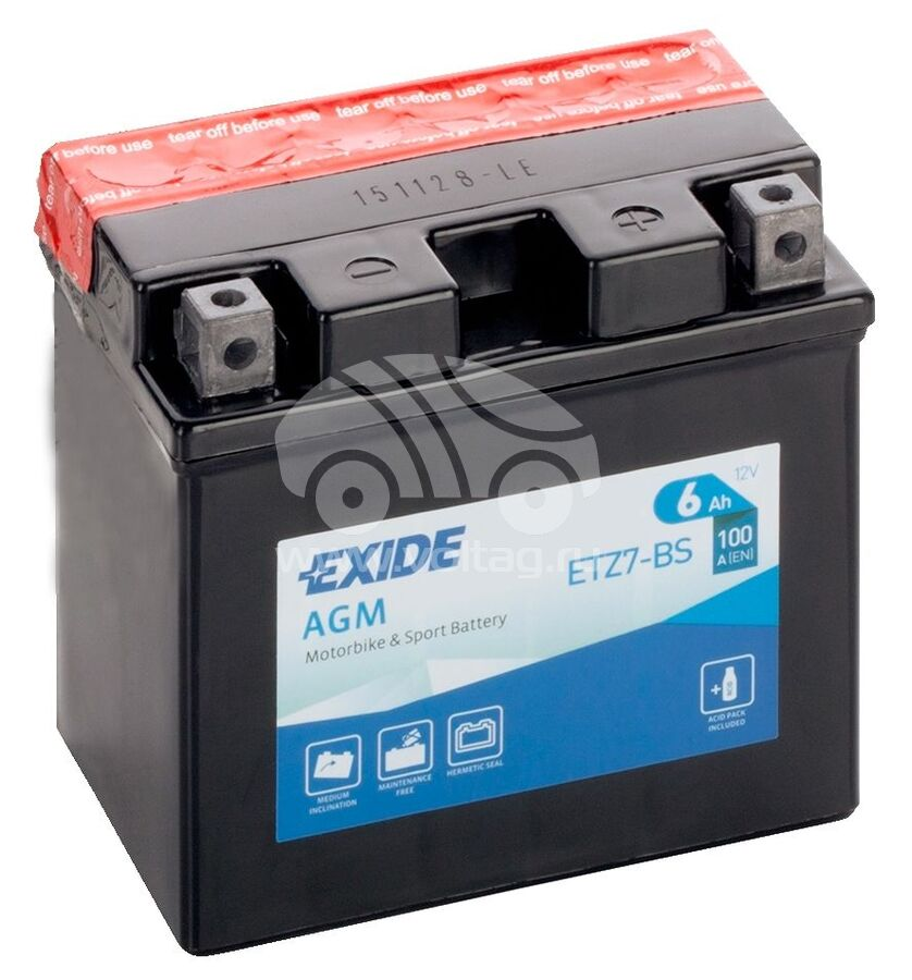 АккумуляторExide ETZ7BS (113x70x105)